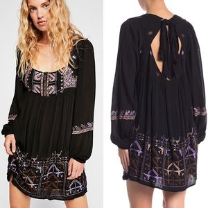 Free People Rhiannon Embroidered Mini Dress XS & S